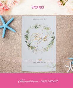 Mẫu thiệp cưới HD 163